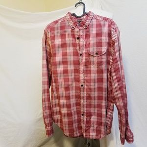BURKMAN BROTHERS Red Plaid Button  Down Shirt